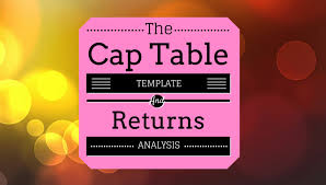 Property Valuation Spreadsheet Ultimate Startup Excel Cap Table Template U0026 Return Analysis Eloquens