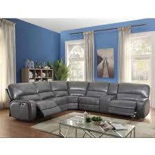 Grey Leather Sectional Sofa Reclining Sectionals You U0027ll Love Wayfair