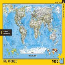 World Map Puzzles by The World Puzzle National Geographic Store