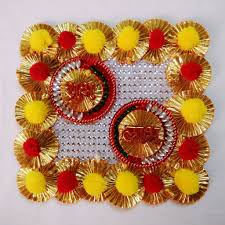 diwali home decorations diwali home decor handcrafted gota pompom tlight rangoli diya