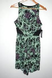 abstract pattern sleeveless dress nwt cute rvca paisley tunic dress black purple gold green sleeveless