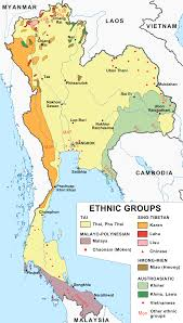 Map Of Thailand Ethnic Groups In Thailand Wikipedia