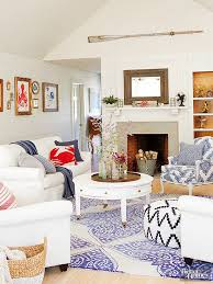Patriotic Style Our Favorite Red White And Blue Home Decor - Red and blue living room decor