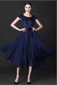 special occasion dress zumeet women silk printed top bow waist special occasion dress