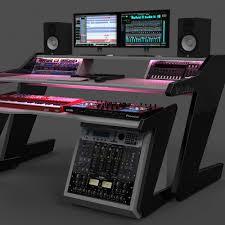 Omnirax Presto 4 Studio Desk Black by Omnirax Force 24 Studio Desk Black Musician 39 S Friend Home
