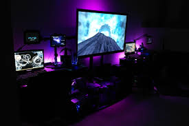 just finished my gaming room set up mixed of pc and console