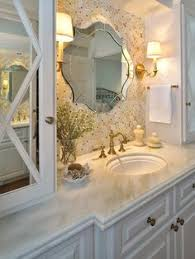 White Bathroom Mirrors by A Tiled Wall Behind The Bathroom Sink Is Both Beautiful And