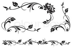 vector design elements for floral ornament stock vector colourbox