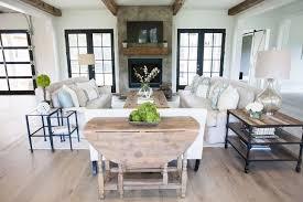 marvellous farmhouse living room decor white wooden beam ceiling