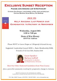 Power Of Attorney Arizona by Upcoming Events U2013 Sunset Reception With Arizona List Southern
