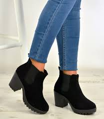 womens chelsea boots uk womens ankle chelsea boots chunky block heels platform shoes