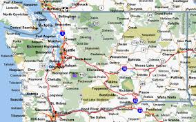 map of washington map of washington state cities and towns cycling maps for