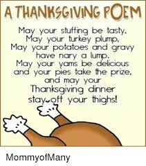 athanksgiving poem may your be tas may your turkey plump