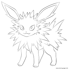 135 jolteon pokemon coloring pages printable