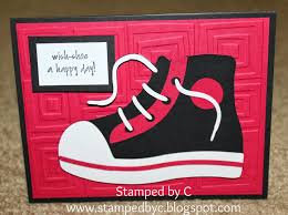 stamped by c shoe birthday card