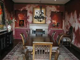 Specialty Finishes Themed Dining Room Peeling Paint Exposed