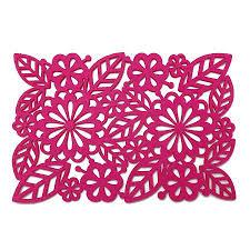 set of two floral felt placemats by edition design shop