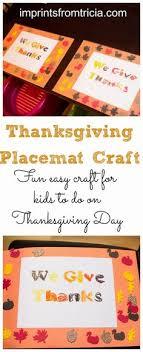 terrific preschool years thanksgiving placemats craft ideas