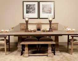 Dining Room Table Chair Bench Favorite Powell Turino Grey Oak Dining Room Kitchen Table