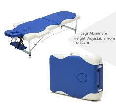 fold up massage table for sale aluminium 3 section massage bed portable salon furniture wooden bed