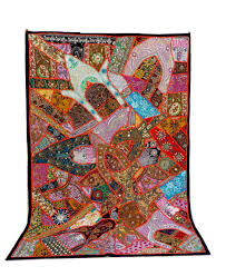 Wholesale Home Decore by Indian Banjara Style Patchwork Tapestry Wholesale Beaded Awesome