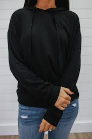 black hooded sweatshirt online clothing boutique