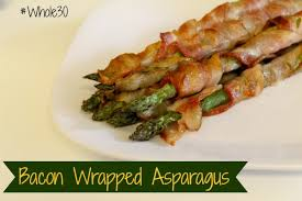 healthy thanksgiving side dish bacon wrapped asparagus moscato
