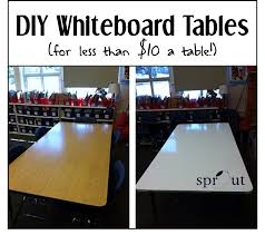 Make A Picnic Table Cover by Classroom Diy Whiteboard Tables Sprout Classrooms