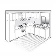 plan cuisine l plan de cuisine en l ouverte sur le séjour kitchen design