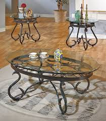 metal and glass end tables 50 best collection of glass topped coffee tables wrought iron