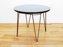 faux bois side table vintage round faux bois side table mid century metal by popbam