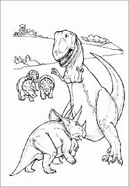 dinosaurs color pages kids coloring