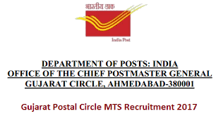 gujarat post office 413 mts recruitment 2017 gujarat postal circle