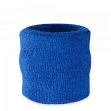 sweat bands blue wristbands colored sweatbands