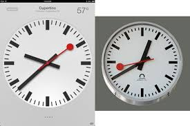 swiss federal railways says apple copied its iconic railway clock