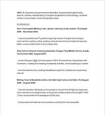 Nursing Tutor Resume Resume Tutor Example Of Tutor Resume Nursing Tutor Resume Free