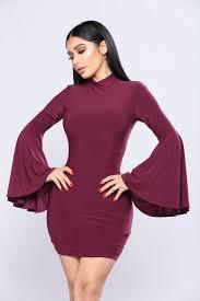 sleeve dress bell sleeve dress plum