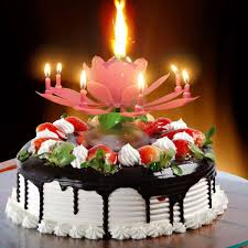 birthday candle flower decoration musical blossom cake topper birthday candle lotus flower