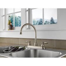 delta two handle kitchen faucet delta handle kitchen faucet