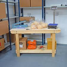 wooden workbench large handmade in the uk very robust