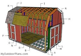 how to build a barn style roof building a 12x20 gambrel shed outdoor shed plans free pinterest