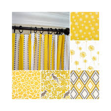 Yellow Curtains Nursery Yellow Window Curtain Yellow Brown Window Drapes Dandelion