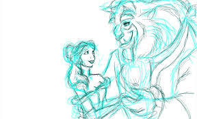 beauty and the beast sketch by aletheiapax on deviantart