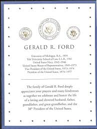 Official Invitation Card Presidential Funeral Memorabilia