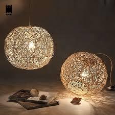 Sphere Pendant Light 30 40 50cm Wicker Rattan Ball Globe Sphere Pendant Light Fixture