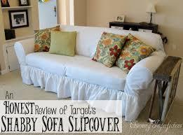 Shabby Chic Slipcovered Sofa An Honest Review Of The Target Shabby Sofa Slipcover