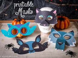 printable halloween masks kit kids diy halloween activity