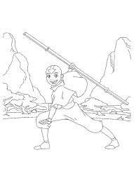 imprime le dessin à colorier de avatar le dernier maître de l u0027air