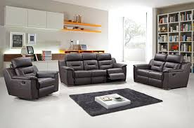 Black Reclining Sofa Brown Leather Modern Recliner Sofa Set Black Reclining And