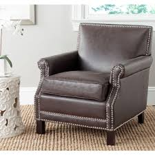safavieh antique brown bicast leather club arm chair